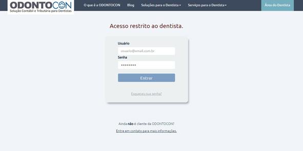 acesso restrito odontocon - De dentista para dentistas