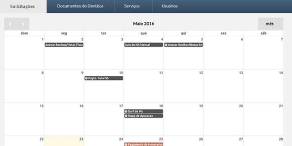 calendário dia dia Odontocon - De dentista para dentistas